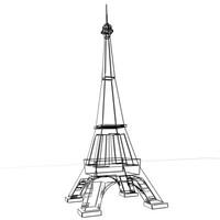 3d eiffel tower