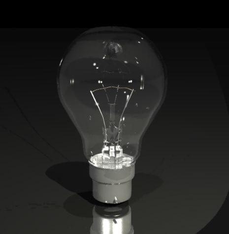 3d model of light globe