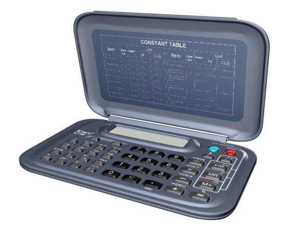 3d model scientific calculator