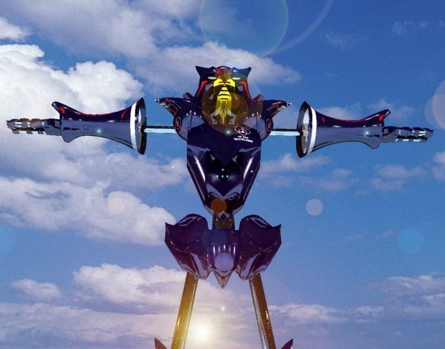 robot fighter 3d model