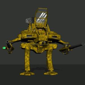 battle mech poser 3d model