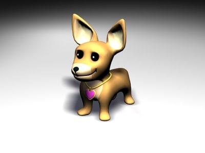 chiwawa dog 3d model