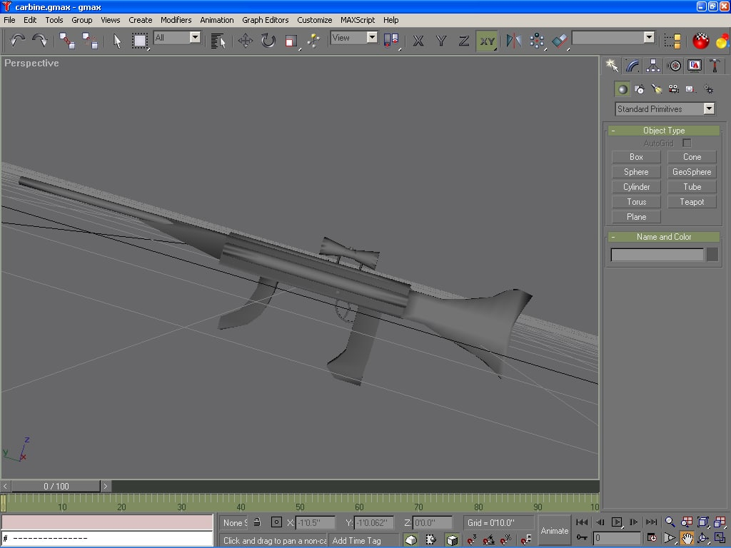 carbine sniper rifle 3d model