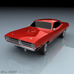 cuda barracuda plymouth 3d model