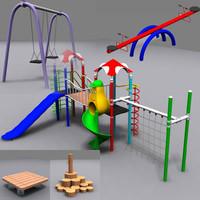 playground kit 3d model