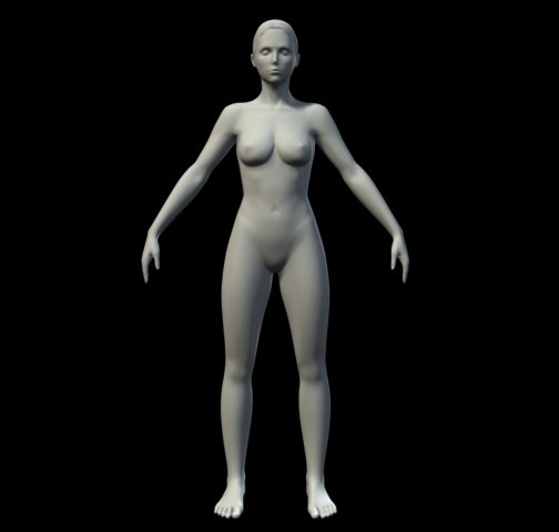 basic female 3d model