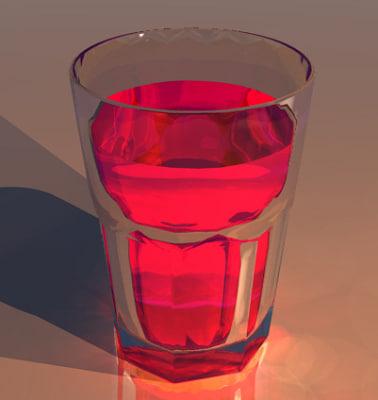 tumbler glass cup 3d 3ds