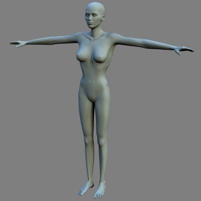 3d female model