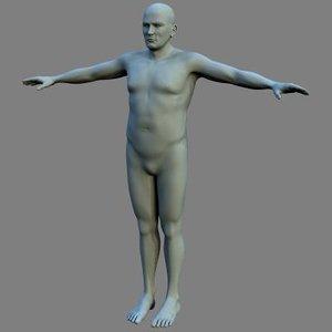 human male 3d ma