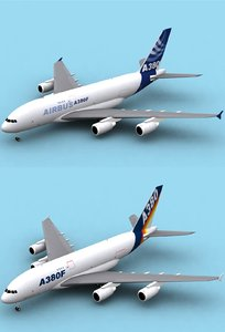 3d model airbus a380-800 f house colors