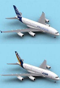 3dsmax airbus a380-800 house colors