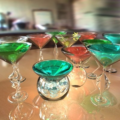 cocktail glassware glass beverage 3d model