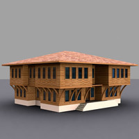 3dsmax traditional house marmara building