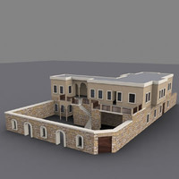 traditional house kayseri building 3d max