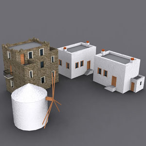 3d model traditional house bodrum building