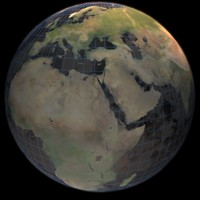 3d stylistic globe satellite