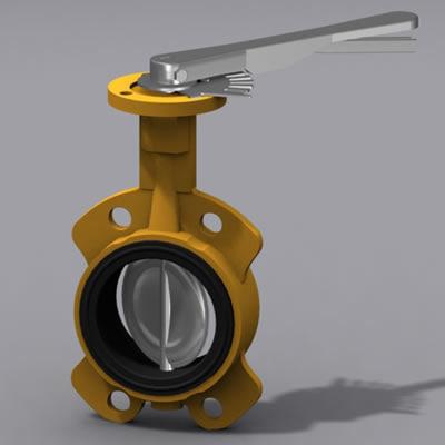 butterfly valve 3d model
