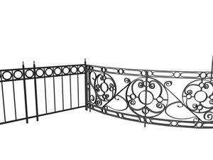 3d ironwork railing model