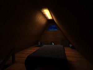 boreing attic 3d model