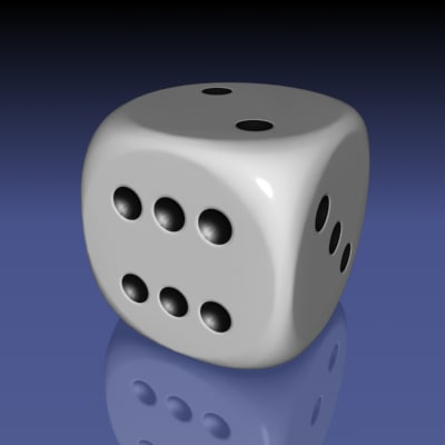3d dice rounded corners model