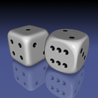 dices rounded corners 3d model