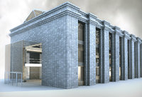 3d model recicled old building