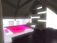3d attic room model
