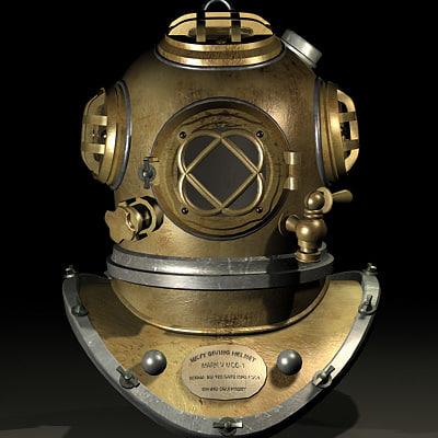 3d mark v diver helmet model