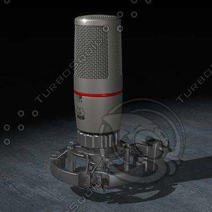 akg microphone 3d c4d
