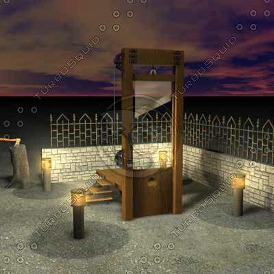 3d guillotine model