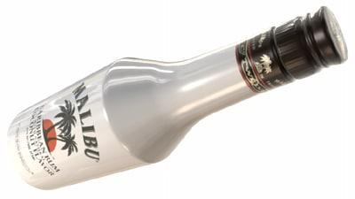 3d malibu bottle model