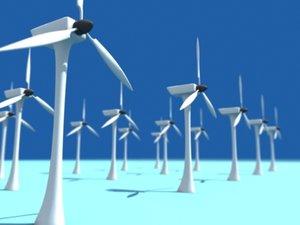 3d model windmill turbine park