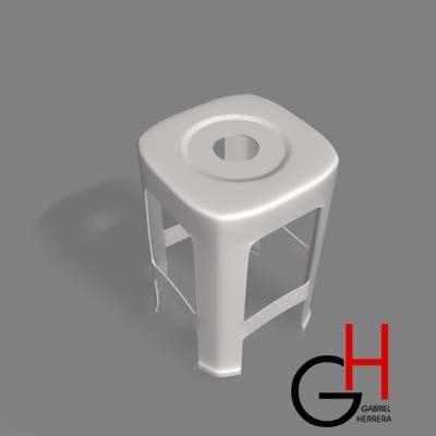3d bar stool model