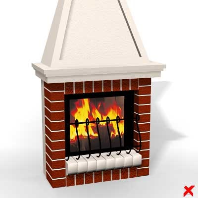3ds max fireplace