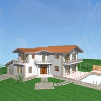 house architecture 3d dwg