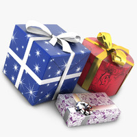 3d c4d gift cadeau box