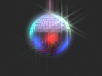 3d discoball disco model