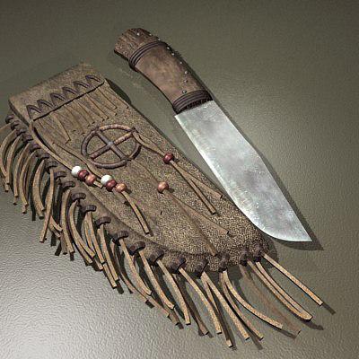 3d native knife sheath model