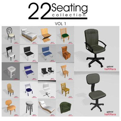 22 seat 3d max