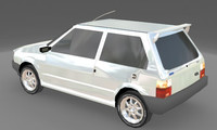 Low Poly Fiat Uno