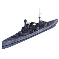 world war battleship 3d model