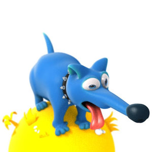 dog doggie 3d model