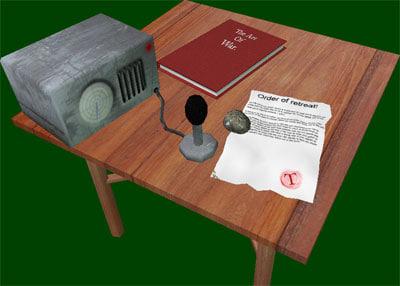 3d table radio tris