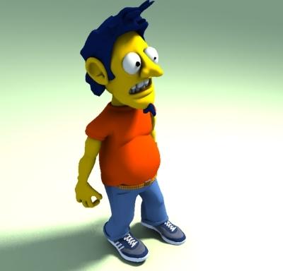 3d model of freaky buddy
