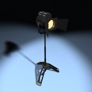 studio light standing 3d max