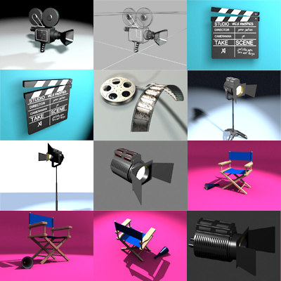 filmset reel light 3d 3ds