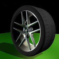wheel tyre 3d model