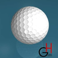 3d model of golfball golf