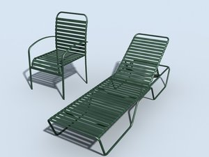 3ds max baja patio chair