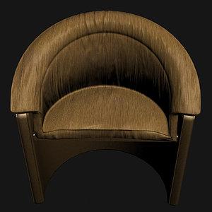 soft chair artdeco 3d max